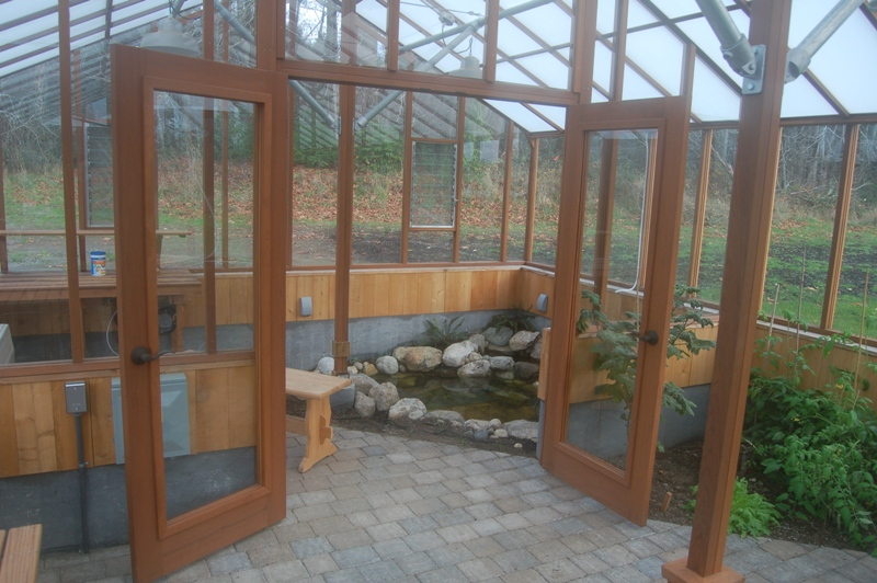 Greenhouse interior with Partition wall