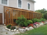 Deluxe Lean-to greenhouse in Maine