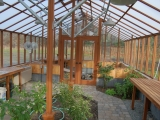Greenhouse interior with post supports