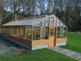 Large redwood greenhouse on Vashon Island WA