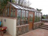 Custom greenhouse with side door