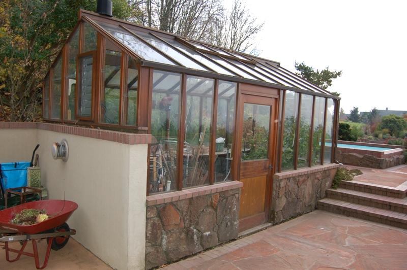 Custom greenhouse with side door