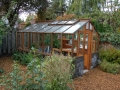 Greenhouse on Concrete block base wall