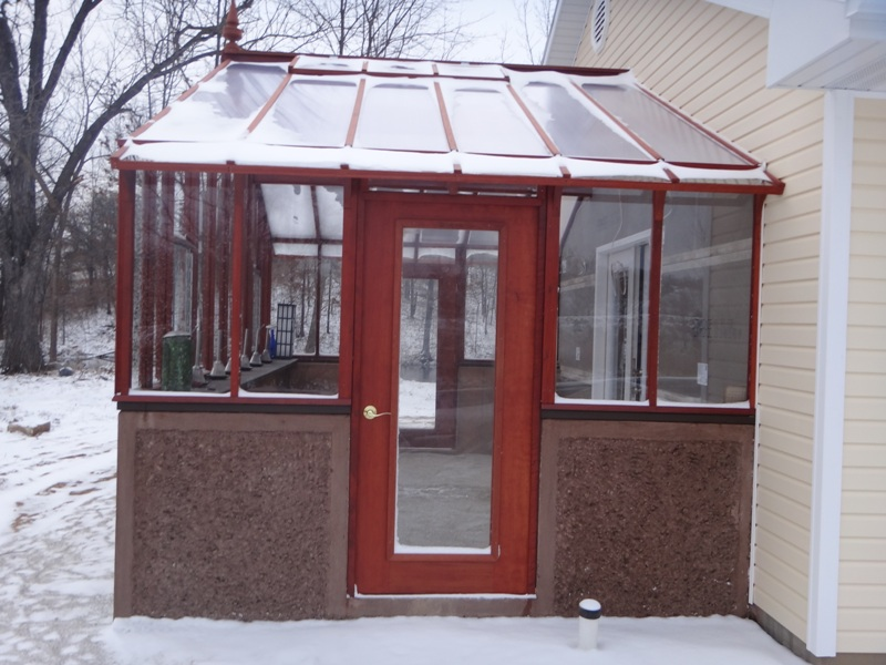 Custom attached greenhouse
