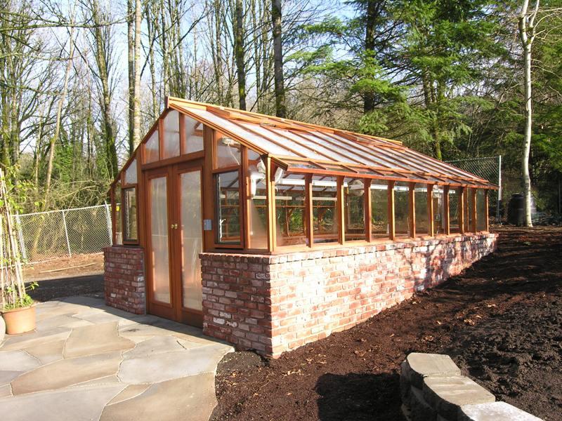 Custom greenhouse with double doors