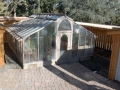 Large glass greenhouse