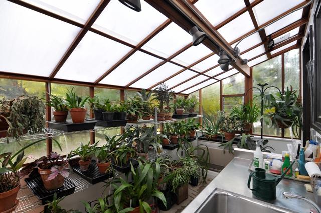 Interior of Garden Sun Room brick base