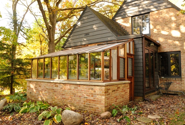 Garden Sun Room with Brick Base