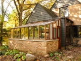 Garden Sun Room with Brick Base