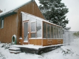 Garden SunRoom greenhouse in Snow
