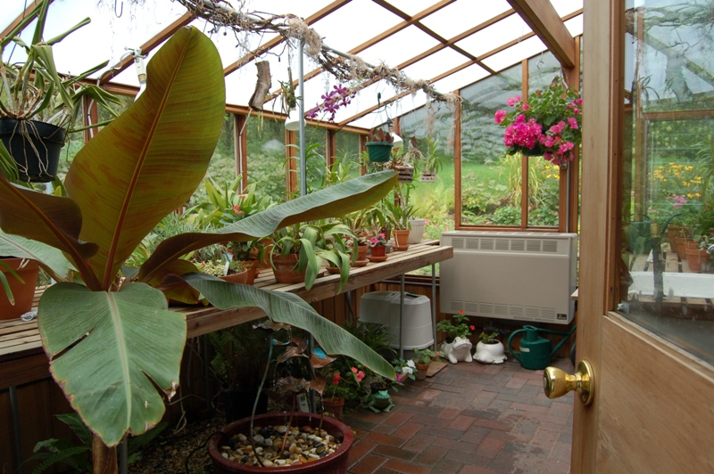 Interior of the Garden Sun Room with twin wall roof