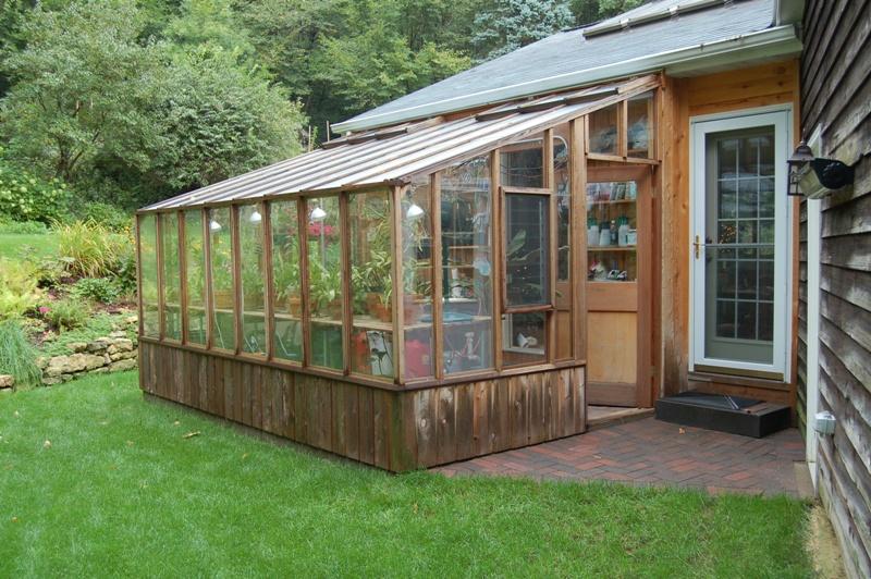 Redwood Garden sun room greenhouse