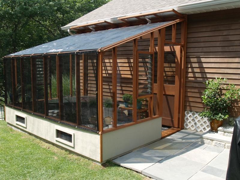 Garden Sunroom Greenhouse Gallery on Energy Efficient Greenhouse Design