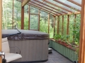 Garden Sun Room Greenhouse with hot tub