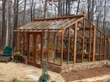 Tall redwood greenhouse located in Georgia
