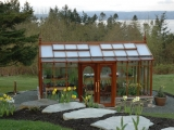 Redwood & Glass greenhouse located on Camino Island WA