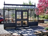 Greenhouse with custom doors