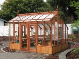 Fancy redwood greenhouse