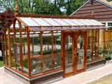 Redwood greenhouse in New Jersey
