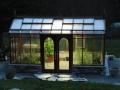 Nantucket greenhouse at night