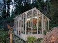 Asymmetrical garden greenhouse