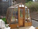 Redwood greenhouse on Oregon Coast