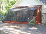 lean-to greenhouse with shade cloth