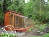 Stand-alone attached greenhouse