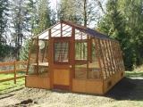 "Garden Greenhouse in 18"" base wall"
