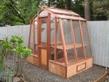 Tiny redwood greenhouse