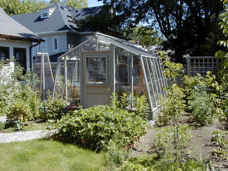 Home greenhouse stained gray