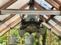 Trillium greenhouse with custom chandelier
