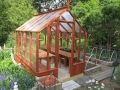 Small redwood greenhouse