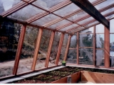 Interior of Lava rock greenhouse