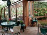 Custom lean-to glass greenhouse