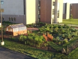Garden greenhouse for a school