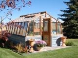 Redwood greenhouse in Wyoming