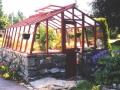 Redwood greenhouse in Alaska