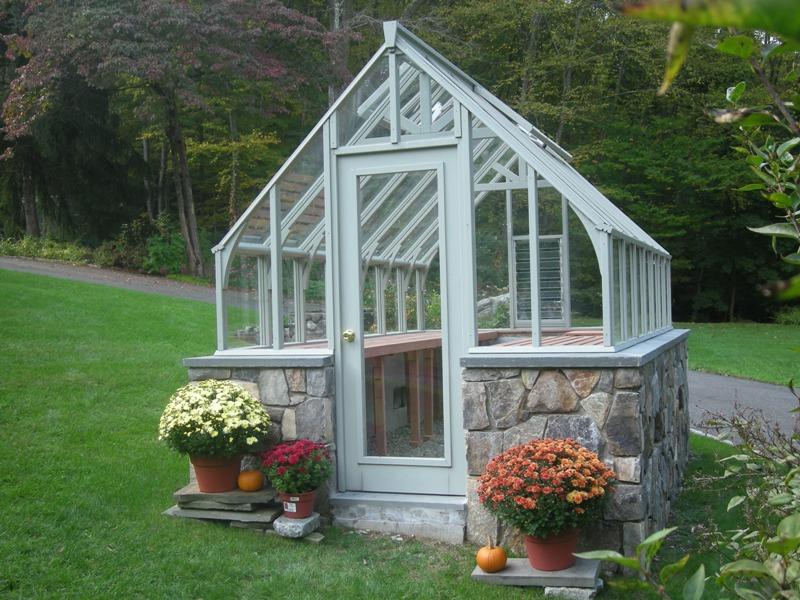 Tudor greenhouse in Connecticut