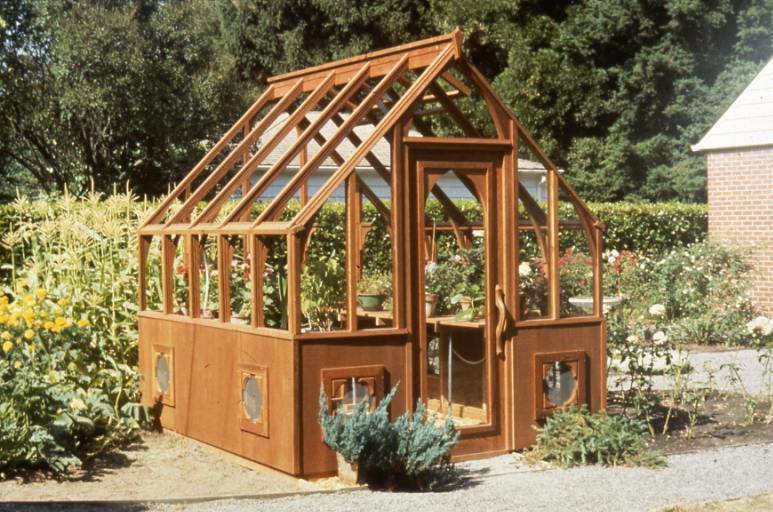 Redwood greenhouse - Tudor style
