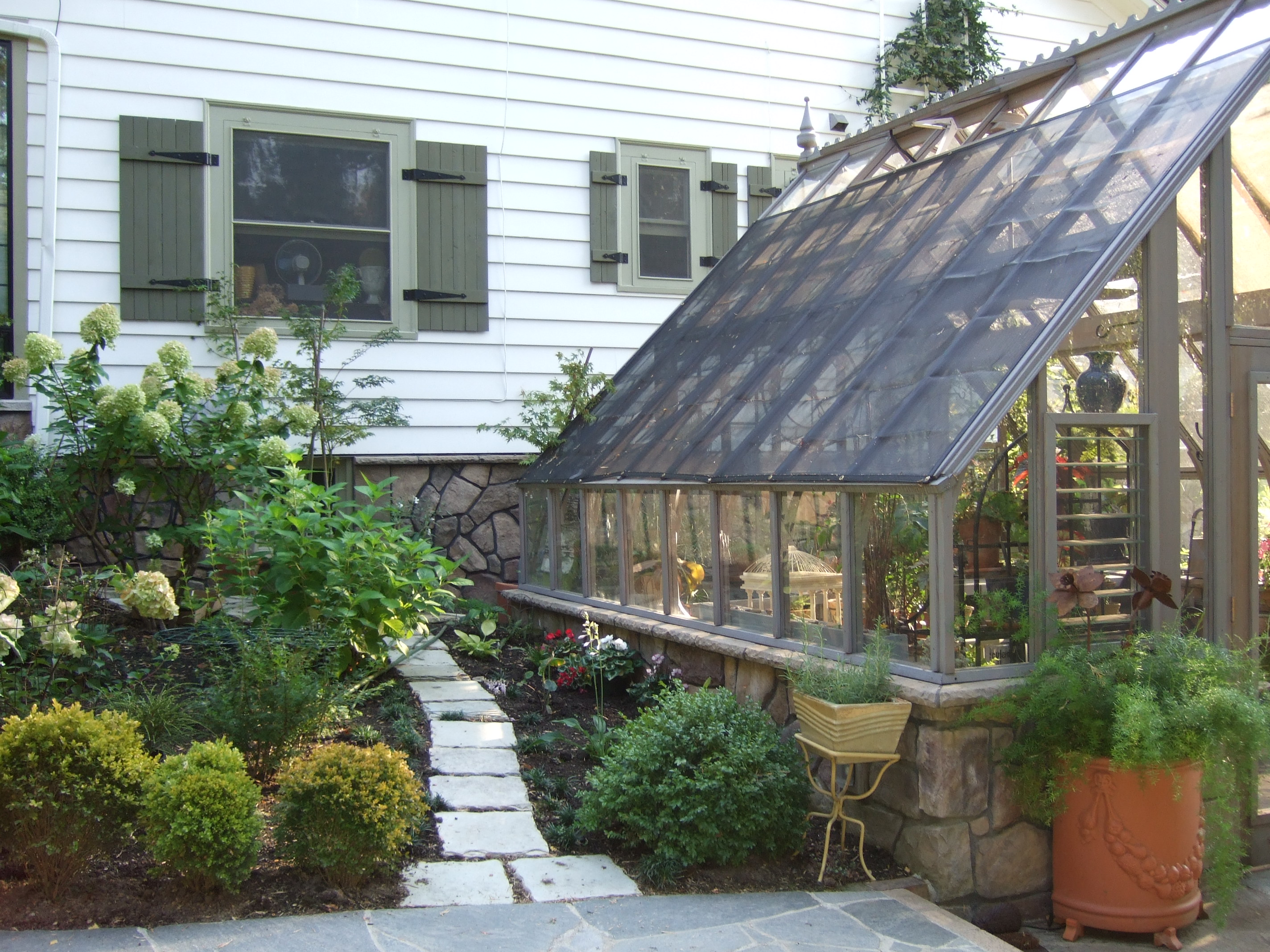 Custom 14 X 14 Tudor Greenhouse