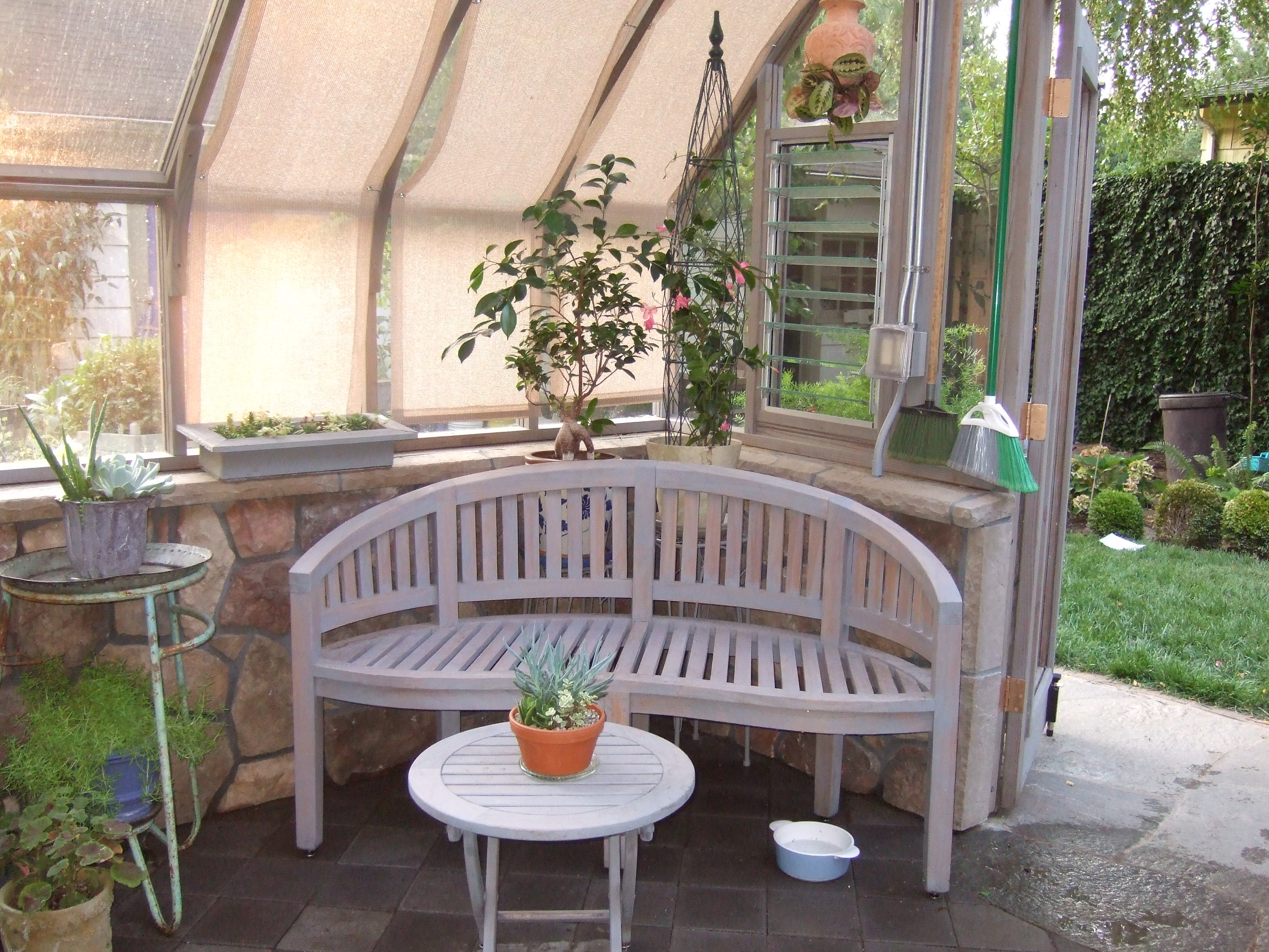 Tudor Greenhouse with sitting area