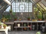 Interior of Tudor redwood Greenhouse