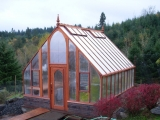 Large redwood greenhouse in Newberg OR