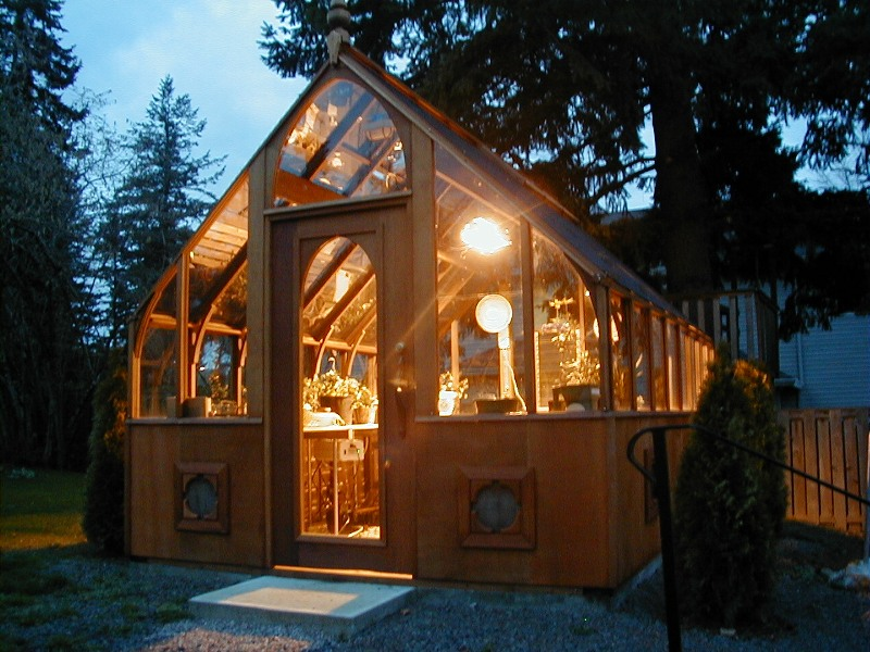 Lighted greenhouse grow lights