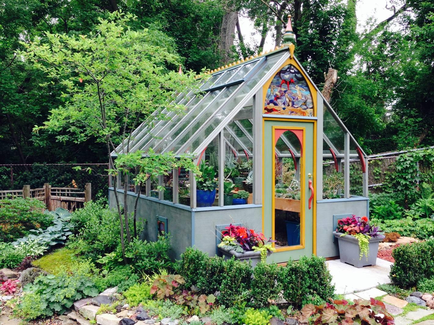 10 X 12 Tudor Greenhouse with unique color pallet