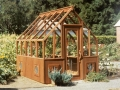 Redwood greenhouse - Tudor style