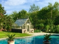Pool side greenhouse