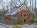 Redwood greenhouse
