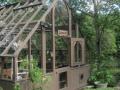 Greenhouse with dutch door
